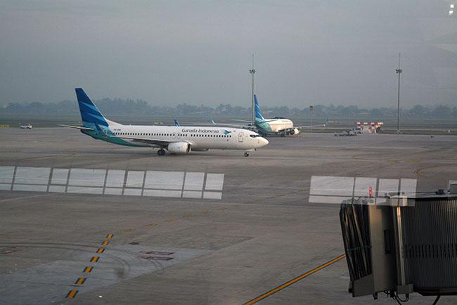 Perdana, Garuda Indonesia Terbang Dari T 3
