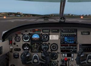 Cockpit flight simulator x-plane