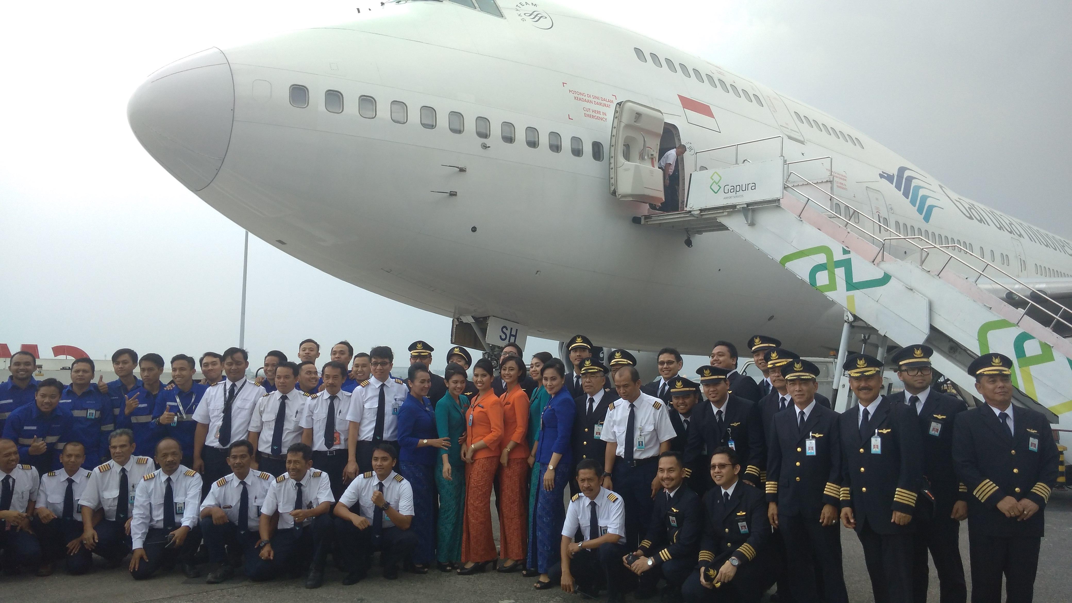 Garuda Indonesia Pensiunkan Pesawat Boeing 747-400 Terakhirnya