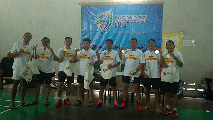 Ini Juara Badminton APG Team Competition 2018