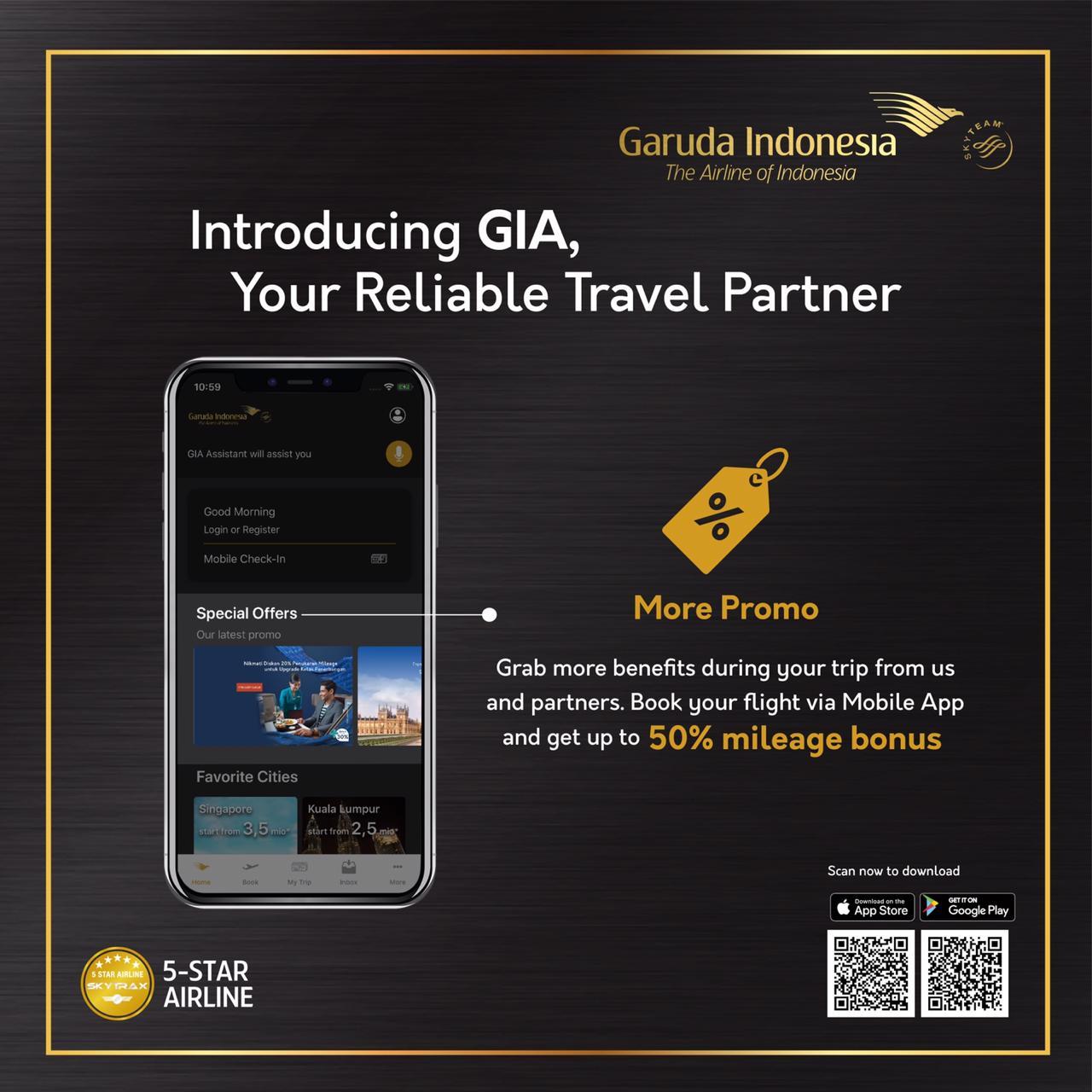 """Garuda Indonesia Perkenalkan """"GIA"""" Fitur Virtual Assistant  dan Voice Command pada Aplikasi Mobile App """"GIA Mobile"""""""